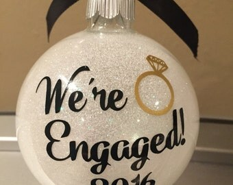 Engagement ornament, Wedding ornament, Christmas ornament, christmas gift,