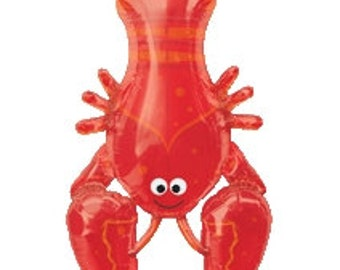 Red Lobster | Under the Sea | Summer Party | Sea Creature | Balloon 39""