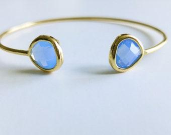 Open Bangle , Gold Bangle ,  Gold Bracelet , Adjustable Bangle , Gold Bangle , Open Cuff Bracelet , Bridesmaids Gifts , Purple Bracelet