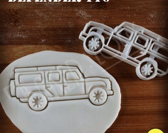 Land Rover Defender 110 Inspired Cookie Cutter | Classic Utility Vehicle biscuit cutter | four-wheel-drive off-road car | one of a kind ooak