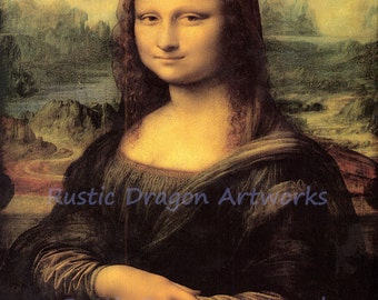 "Leonardo de Vinci ""Mona Lisa""  c1504 Reproduction Digital Print Famous Painting Wall Hanging"