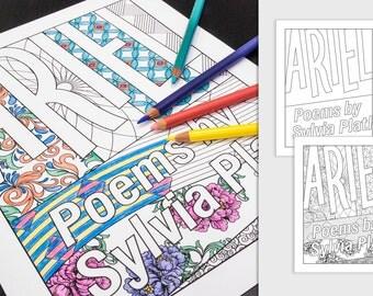 Sylvia Plath Coloring Page: Ariel