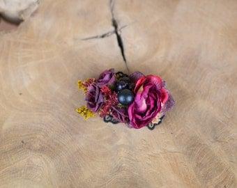 Flower Hair Clip Autumn Wedding Clip Floral Hair Clip Fall Clip Flower Headpiece