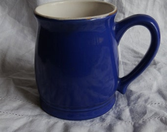 Vintage 1950's Dark Blue Tea / Coffee Mug / Tankard