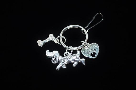 Keychain Dog & Bone, My Best Friend Small Dog Keychain, Dog Lover Keychain, Dog Clip, Fun Dog Lover Clip