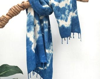 DAY DREAMER PESHTEMAL - Turkish Bath Towel – Hand Dyed – Natural Organic Indigo
