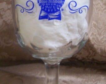 1970's Vintage Pabst Beer Glass Goblet.