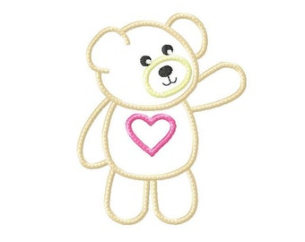 Applique  Machine Embroidery Design Baby Instant Download Bear