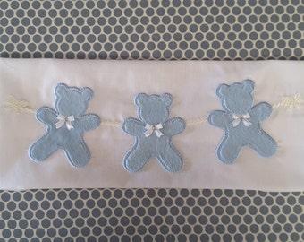 Applique Machine Embroidery Design Bear Garland