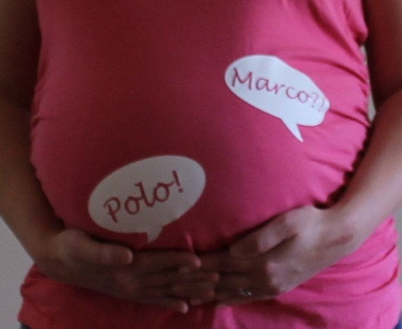 marco polo maternity shirt twins maternity shirt baby shower. Black Bedroom Furniture Sets. Home Design Ideas