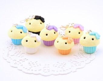 Pastel Kawaii Cupcake Polymer Clay Charm - Cupcake Planner Charm - Cupcake Planner Charm - Kawaii Planner Accessories - Kawaii Charm