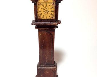 antique dollhouse grandfather clock tynietoy dollhouse clock dollhouse clocks antique german dollhouse clock - Grandfather Clocks