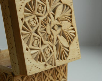 Incompatibility - chip carved, hand carved wooden box, linden (basswood).