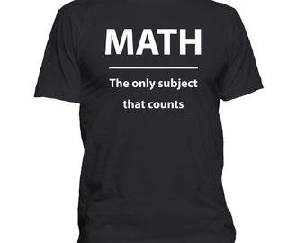 Funny Math t shirt, Geek shirt, Nerd t-shirt, Science, School, College, Humor, Teacher Gift, Birthday Gift  088