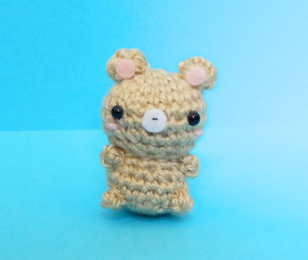 Amigurumi Mini Bear : Mini Bear Amigurumi Keychain Little Bear Bear Amigurumi