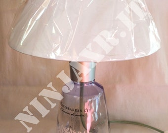 Lamp table Décor Empty bottle Gin Sea Idea gift Abat jour abatjour Recycling Creative Reuse