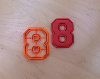 Varsity Number Eight Cookie Cutter