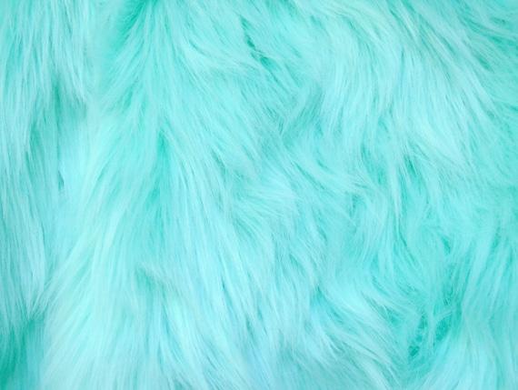 Aqua blue fur fabric craft size squares mint fur shag mint - Light blue and mint green ...