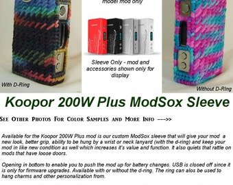 "Koopor 200W Plus Temp Control ""ModSox"" Sleeve wrap case lanyard holder pouch glove cover custom handmade"
