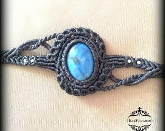 Jasper Macrame bracelet\handmade\micromacrame\