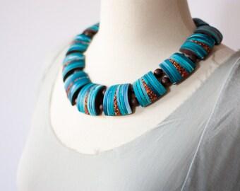 Unique Artisan Handmade Necklace - Avant Garde  Contemporary Polymer Clay Jewelry