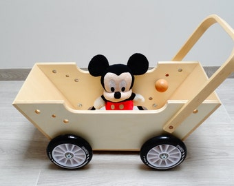 Porteur, brouette, chariot en bois - Jouet en bois