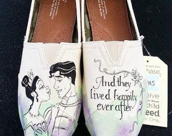 Disney's The Princess and the Frog Wedding Shoes Prince Naveen and Princess Tiana