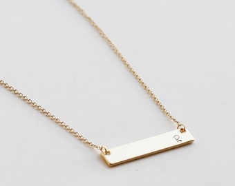 Personalized Bar Necklace, Name Gold Bar Necklace, Bridesmaid gift, christmas, best friend, valentines day gift, friendship necklace jewelry