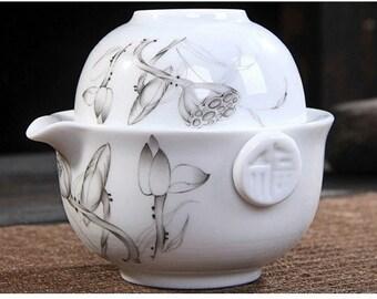 Cup Lid Lotus Flower Gaiwan