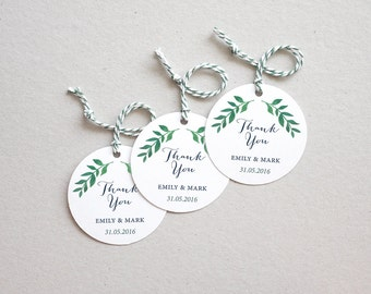 circle gift tag template - wedding thank you cards etsy uk