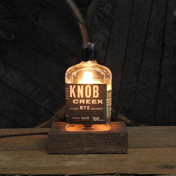 Knob Creek Rye Bourbon Bottle Lamp Gift, Gift For Him, Christmas Present For Guy, Gift For Dad, Bourbon Lamp,  Gift For Brother, Guy Gift
