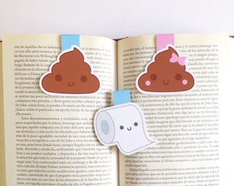 Poo Magnetic Bookmark -  Poop Bookmark - Double Sided
