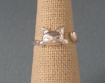 Cat Ring - Sterling Silver