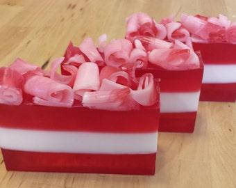 Gift Pack of 9 Peppermint Stripe Homemade Soap