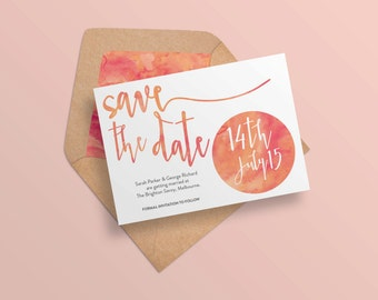 Save the date printable, Watercolour save the date, Printable save the date, Save the dates, Whimsical save the date, Wedding save the date