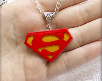 Superman Symbol pendant dc comic hero Movie jewelry superman svg costume graduation gift geek comic necklace Superhero kent superman sign