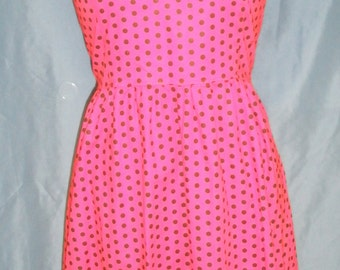 Red/black polka dot halter dress