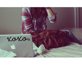 XOXO Decal - XOXO Sticker - Laptop Decal - Macbook Decal - Car Decal - Girly Decal - Laptop Sticker - Macbook Sticker - Gossip Girl
