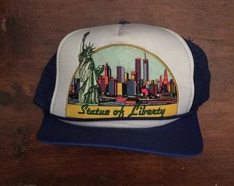 Vintage Statue of Liberty NYC New York Trucker Hat Snapback Baseball Cap
