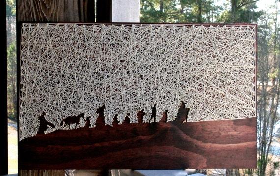 Seigneur des anneaux String Art | « La bourse » String Art