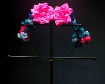 Two Lovers Flower Crown - OOAK