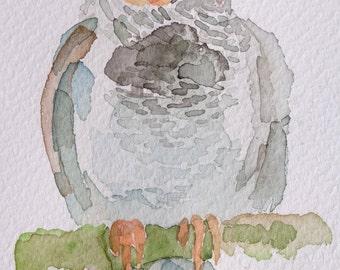 Original Finch watercolor