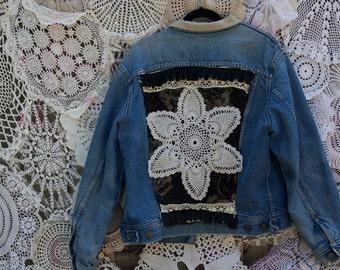 Hand Embellished Vintage Jean Jacket