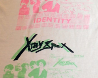 X-Ray Spex RARE T Shirt! Authentic Vintage 1978! X-Ray Spex ~ Identity CBGB's Show Open To ALL Offers!!!