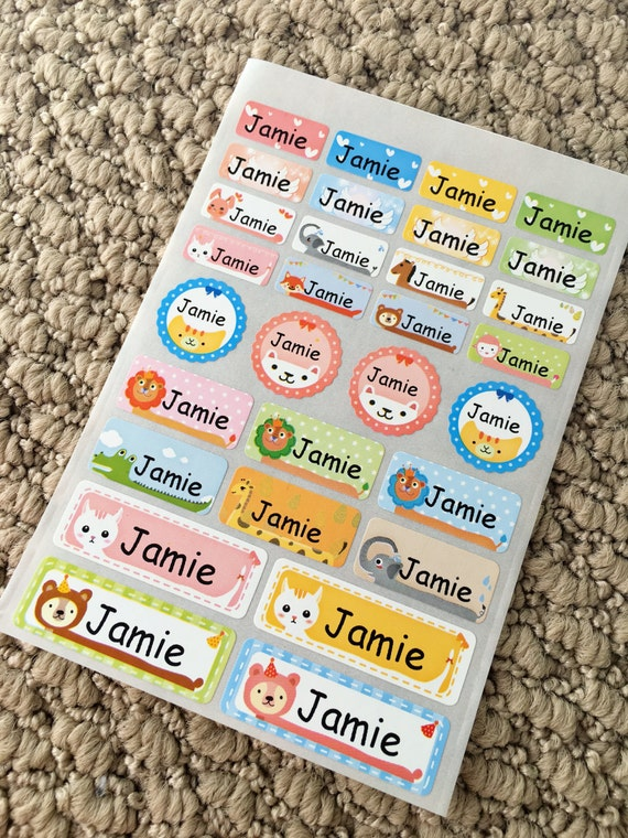 Name Labels Daycare Labels School Labels Kids Name By