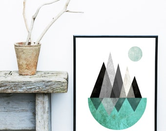 Art Print, Scandinavian Design, Geometric Print, Abstract Art Print, Modern Art, Giclee print, Wall Art,  Poster, Home Decor, Wall Decor