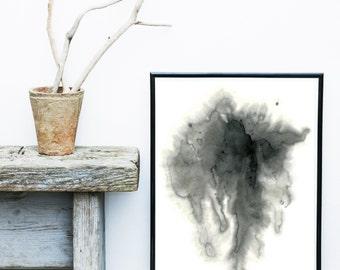Grey Wall Art, Watercolor Abstract, Minimalist Poster, Abstract Art Print, Digital Art Print, Giclee print, Wall Art, Wall Decor