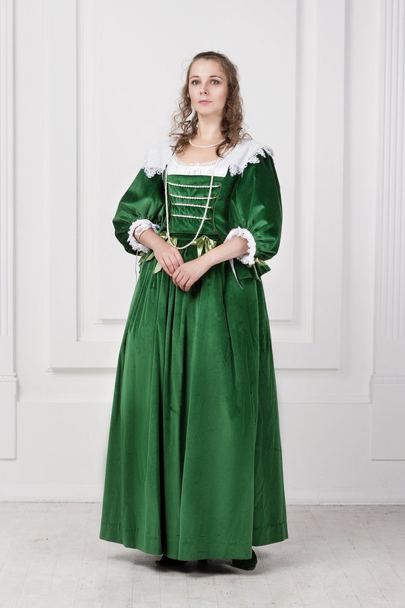 Noble woman dress 17th century baroco europe for 17th century wedding dresses
