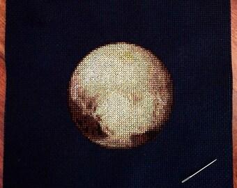 Pluto Cross Stitch Pattern Instant Download PDF