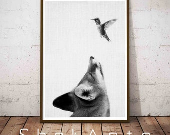 Nursery Woodland Fox, Wilderness Wall Art, Printable Fox Art, Woodland Wall Decal, Farmhouse Art Prints, Forest Wall Decals, Teen Room Decor